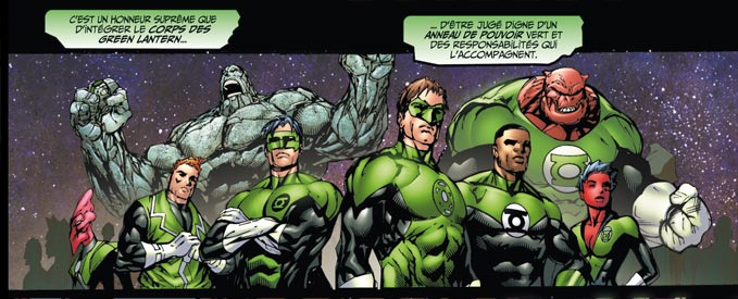 le corps des green lantern