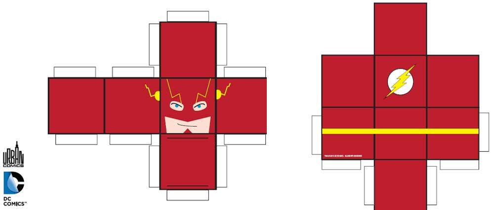 Papertoy flashurban comics - Flash le super heros ...