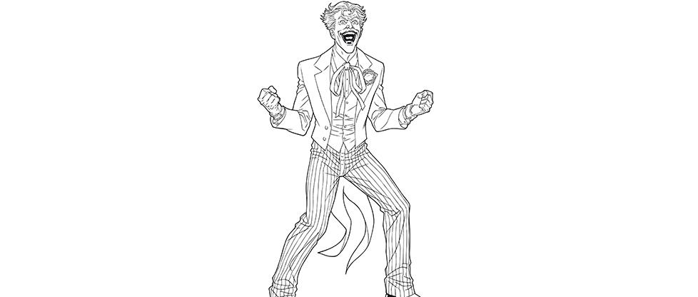 Pin coloriage super vilains coloriages dessin on pinterest - Le joker dessin ...