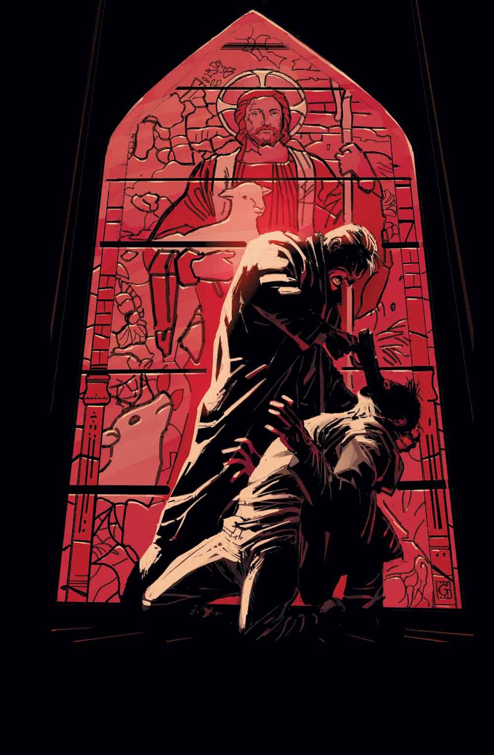 ILLUSTRATION DE COUVERTURE DE MEN OF WRATH #3, PAR RON GARNEY