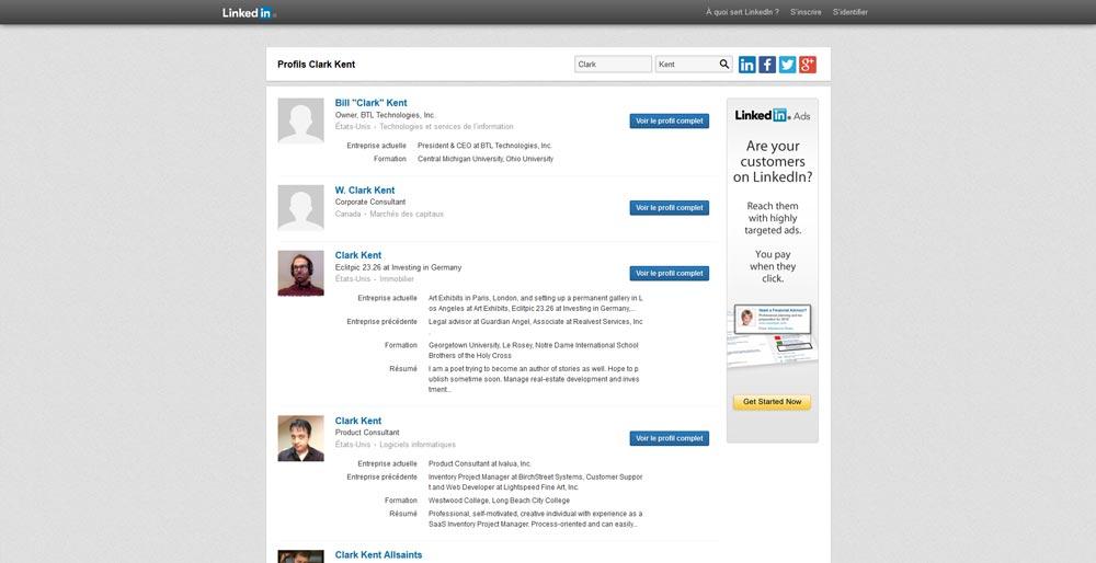 """Top-10-des-profils-""""Clark-Kent""""---LinkedIn-2016-06-10-12-12-52"""
