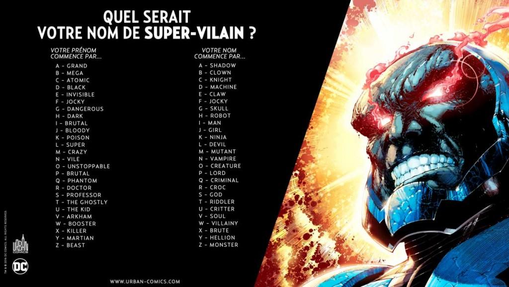 Bien-aimé Quel est votre nom de super-vilain ? XD26