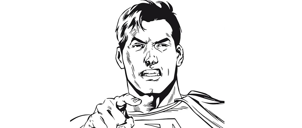 Des coloriages superman urban comicsurban comics - Masque de superman ...