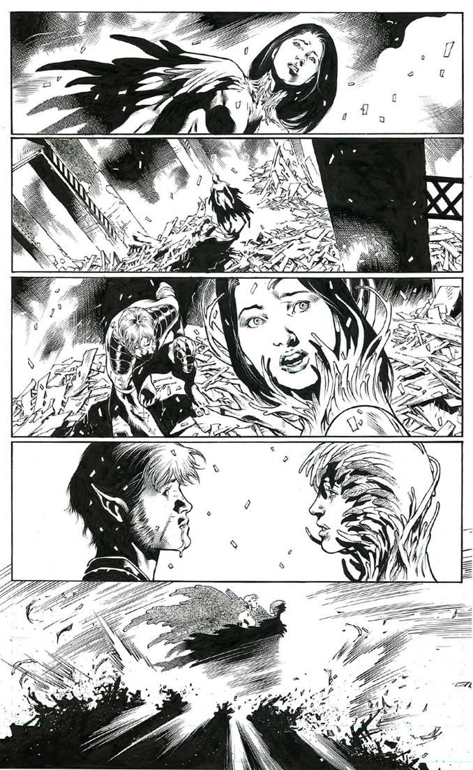 Concours Urban Comics/Eddy Barrows plancheoriginal