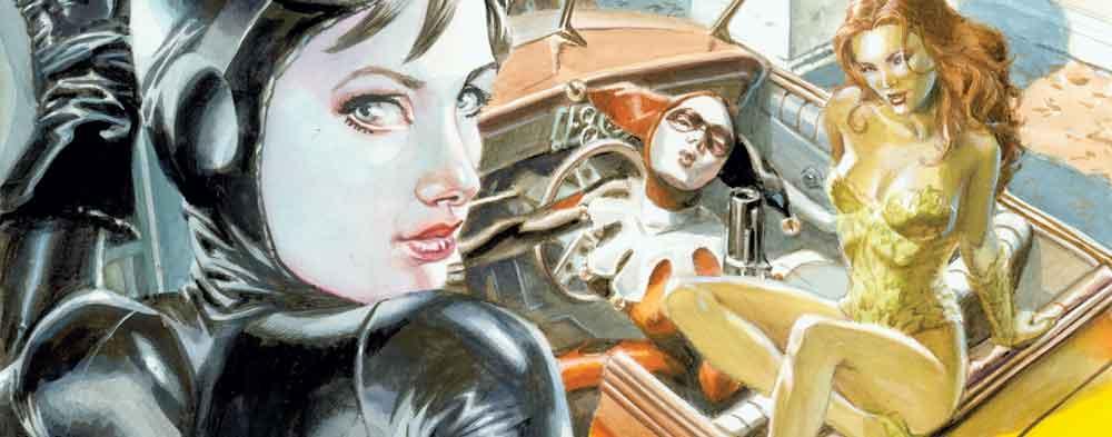 Dans quel titre forme-t-elle un trio avec Harley Quinn et Poison Ivy ?