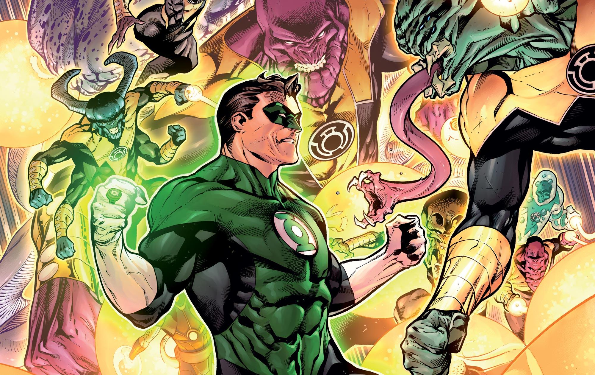 La première apparition de Green Lantern est dans l'épisode :