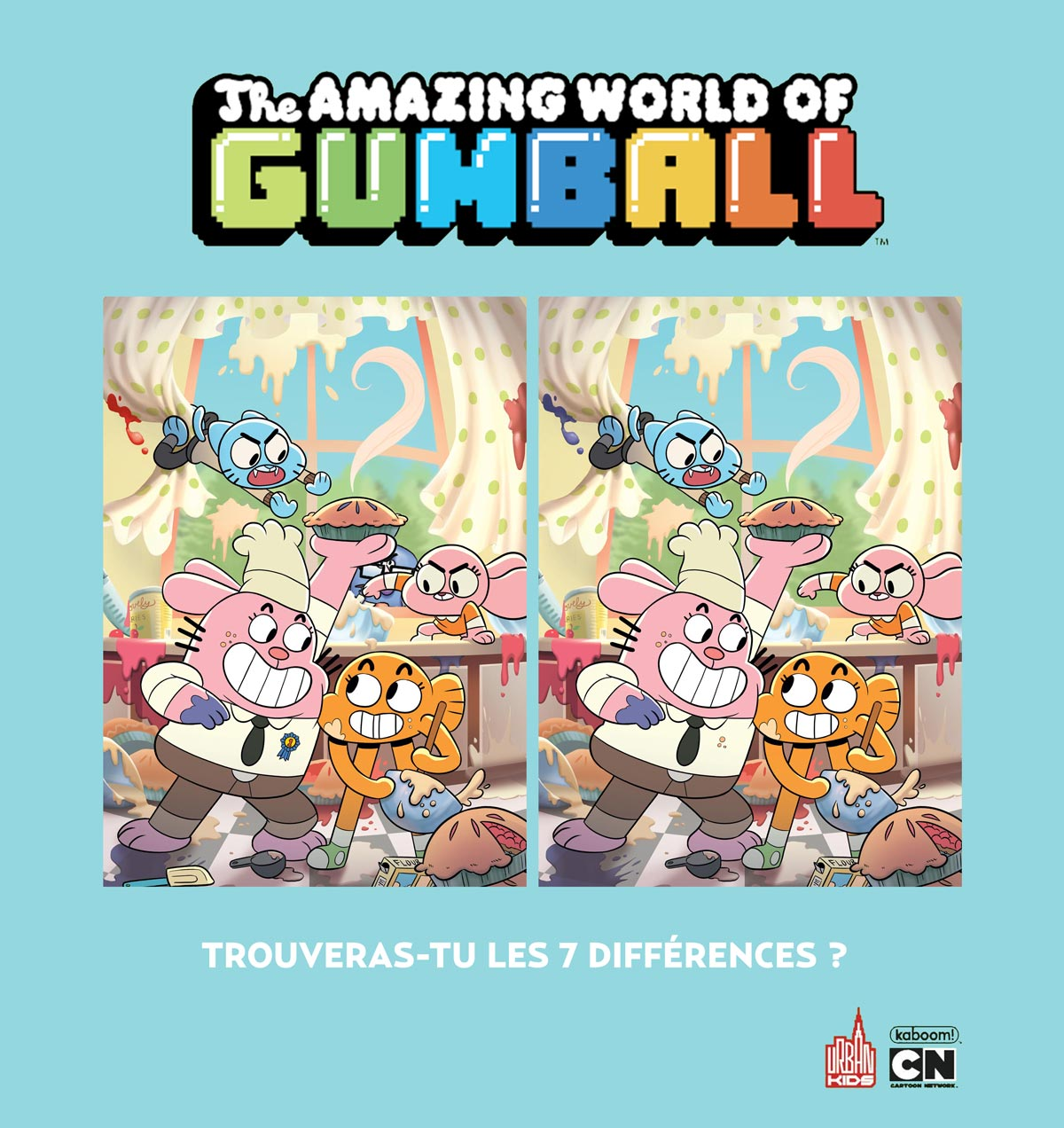 Le Monde Incroyable De Gumball Spot The Differences Urban Comics