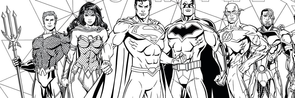 Coloriage - Justice League - Urban Comics