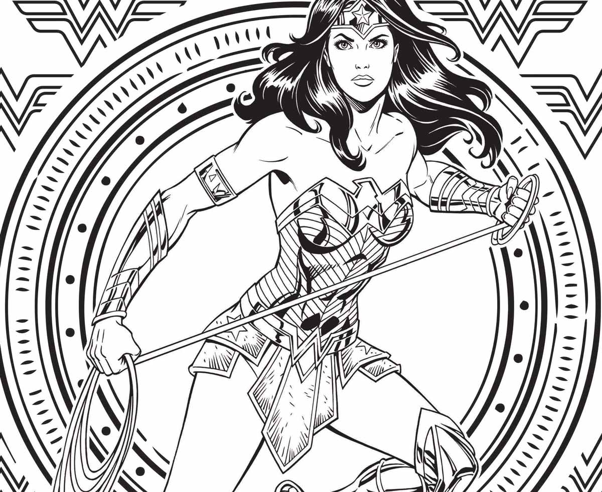 Coloriage Wonder Woman Urban Comics